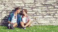 Young And Happy Couple Chilling In Park. Love, Relationship, Rom Royalty Free Stock Photos - 86182558