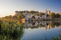 Avignon Old Bridge During Sunset In Provence, France Royalty Free Stock Images - 86190989
