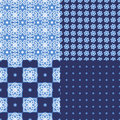 Portuguese Azulejo Tiles. Seamless Patterns. Stock Image - 86200961