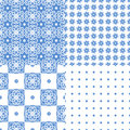 Portuguese Azulejo Tiles. Seamless Patterns. Royalty Free Stock Photos - 86201018