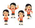 Cartoon Businesswoman Character Poses Stock Images - 86212834