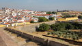ELVAS, PORTUGAL: View Of The Old Town From The City Walls With Forte De Santa Luzia In The Background Royalty Free Stock Photo - 86219885