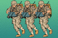 Squad Modern Cyber Soldier Royalty Free Stock Photos - 86219928