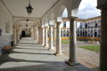 EVORA, PORTUGAL - OCTOBER 11, 2016: The University Antiga Universidade With Arcades And Marble Columns Stock Photography - 86222002
