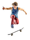 Skateboarder Young Teenager Man Isolated Stock Photography - 86228112