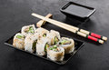 Sushi Roll On A Plate Stock Photos - 86242933
