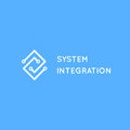 System Integration Abstract Logo. Electric Scheme Line Art Logot Stock Photography - 86248422