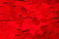 Valentines Day Background Of Red Hearts Confetti. Stock Photo - 86282710