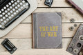 The Art Of War On Old Book Cover At Office Desk With Vintage Ite Royalty Free Stock Photo - 86289775