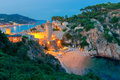Tossa De Mar. Fortress At Night. Stock Images - 86299074