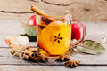 Cup Of Hot Apple Cider With Cinnamon, Anise And Orange Royalty Free Stock Image - 86302436