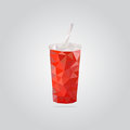 Polygonal Red Paper Cup Illustration Royalty Free Stock Photo - 86309215