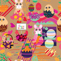 Easter Inside Egg Style Seamless Pattern Royalty Free Stock Photography - 86313617