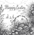 Happy Easter Greeting Card Stock Photography - 86325562