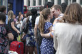 Young Loving Couple Embracing And Kissing At Rush Hour Near The Metro Covent Garden Royalty Free Stock Photos - 86334898