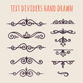 Set Of Hand Drawn Text Dividers Isolated On Light Background Stock Image - 86351121