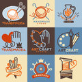 Art And Handmade Craft Store Or School Icons Templates Stock Image - 86353551