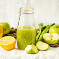 Green Detox Juice With Apple, Kale, Lemon And Celery Royalty Free Stock Photography - 86359247