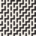 Irregular Maze Shapes Tiling Contemporary Graphic Design. Vector Seamless Black And White Pattern Stock Photo - 86363170