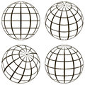 Set Globe, The Technical Picture Of The Contours Of The Earth Royalty Free Stock Images - 86370479