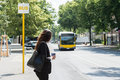 Businesswoman Waiting For Bus Royalty Free Stock Image - 86376906