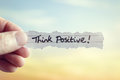 Think Positive Stock Photo - 86382020