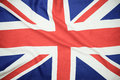 British Union Jack Flag Blowing In The Wind. Royalty Free Stock Image - 86388306