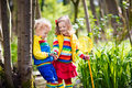 Children Playing Outdoors Catching Frog Royalty Free Stock Photo - 86394545
