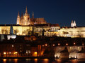 Colorful Prague Gothic Castle In The Night Stock Photos - 8646333