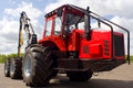 Red Tractor For Lumber Industry Royalty Free Stock Photos - 8647298