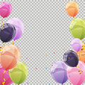 Color Glossy Balloons Transparent Background Vector Illustration Stock Photos - 86403483