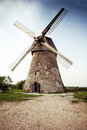 Traditional Old Dutch Windmill In Latvia Stock Photography - 86471012