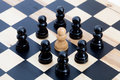 White Pawn And Black Ones Stock Images - 86495844