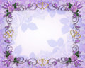 Floral Border Roses And Gold Hearts Stock Images - 8650144