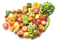 Vegetables & Fruits Isolated Stock Image - 8651671
