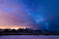 Stunning Star Filled Grand Teton National Park Stock Images - 86520934