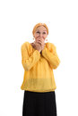 Surprised Lady Covering Mouth. Stock Photo - 86533280