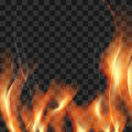 Great Realistic Vector Fire Flames Smoke Sparks On Translucent B Stock Photos - 86545623