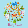 Happy Easter Spring Holiday Greeting Card Design Royalty Free Stock Image - 86557106