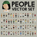 Vector People Set Collection Characters Concept Stock Photo - 86560270