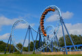 Roller Coaster  Ride Filled  With Thrill Seekers Royalty Free Stock Images - 86571159