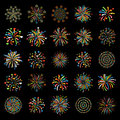 Firework Different Shapes Colorful Festive Vector. Royalty Free Stock Photos - 86575298