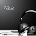 Vector Music Illustration With Headphone On Clean Background. Stock Photo - 86583350