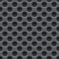 Seamless Vector Wallpaper Of Perforated Gray Metal Plate. Royalty Free Stock Image - 86584066