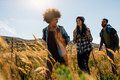 Happy Group Of Friends Hiking Together Royalty Free Stock Images - 86589219