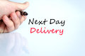 Next Day Delivery Text Concept Stock Photo - 86600230