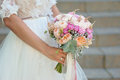 Bride Holding Delicate Marriage Bouquet Stock Images - 86604464