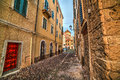 Narrow Street In Alghero Old Town Royalty Free Stock Photography - 86605347