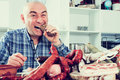 Ordinary Men With Lots Of Meat And Sausage Products Royalty Free Stock Images - 86613709