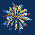 Firework Shapes Colorful Festive Vector Icon. Stock Photos - 86640663